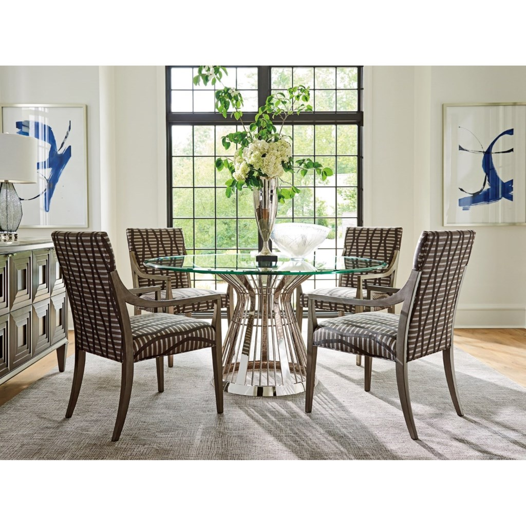 lexington ariana riviera stainless dining table base with 60 inch