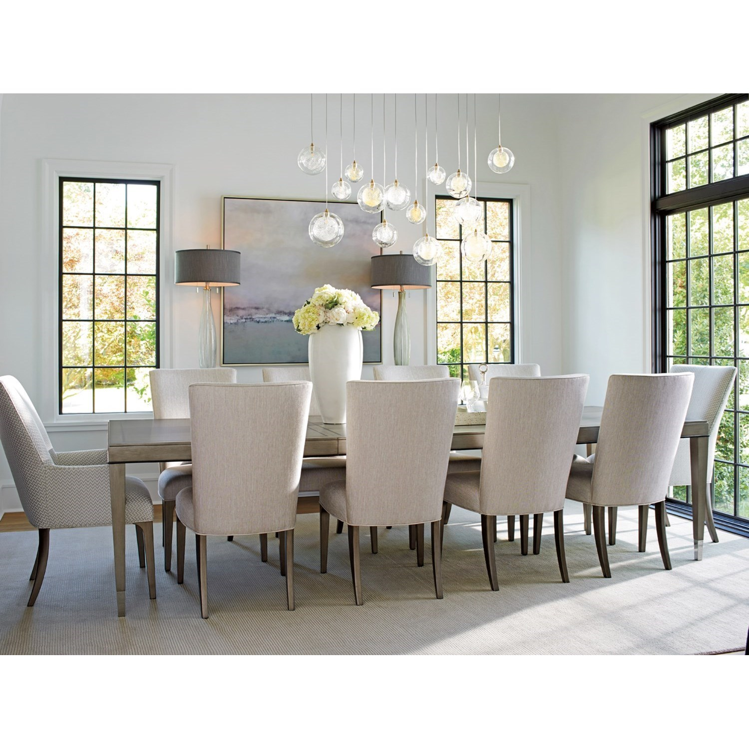 Eleven Piece Dining Set with Chateau Table and Bellamy Chairs