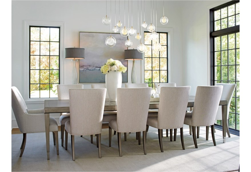 Lexington Ariana 200195130 Chateau Rectangular Dining Table With Table Extension Leaves Baer S Furniture Dining Tables