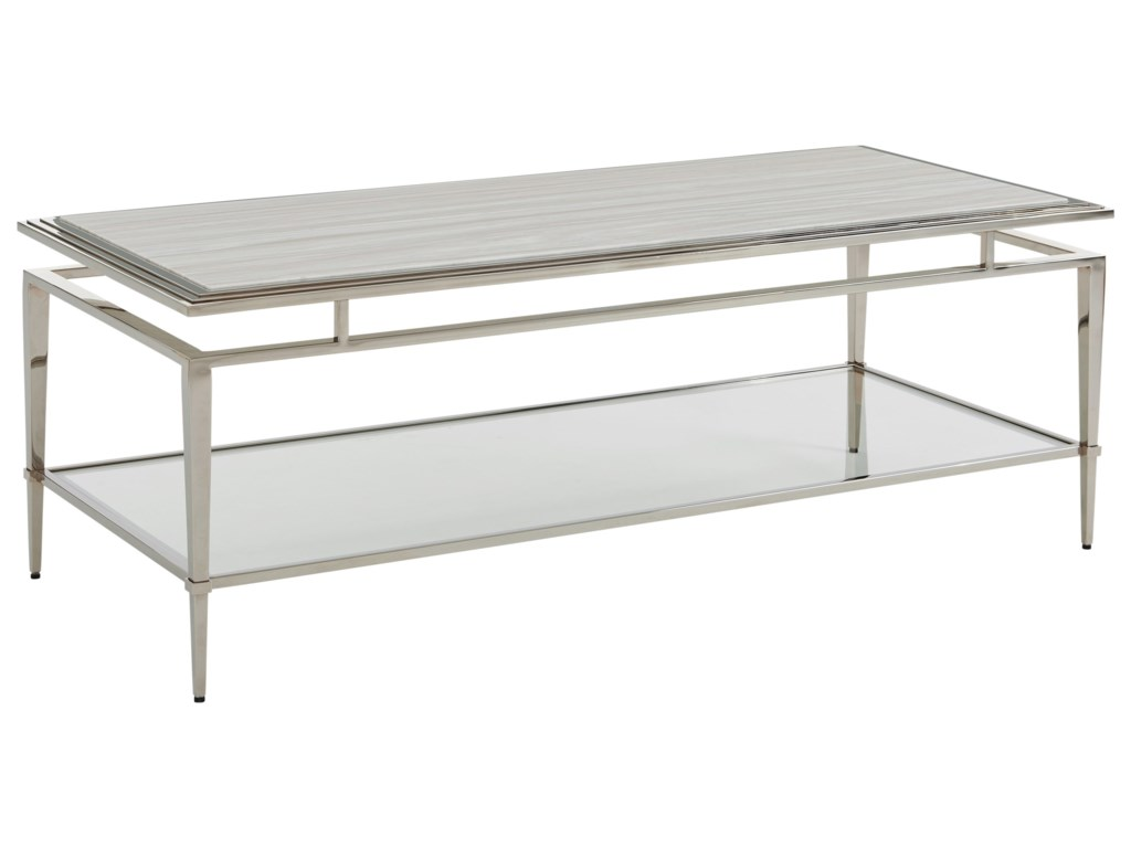 Lexington ArianaAthene Stainless Cocktail Table