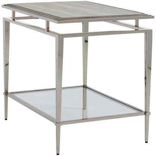 Lexington Ariana Athene Stainless End Table With Marble Top Godby