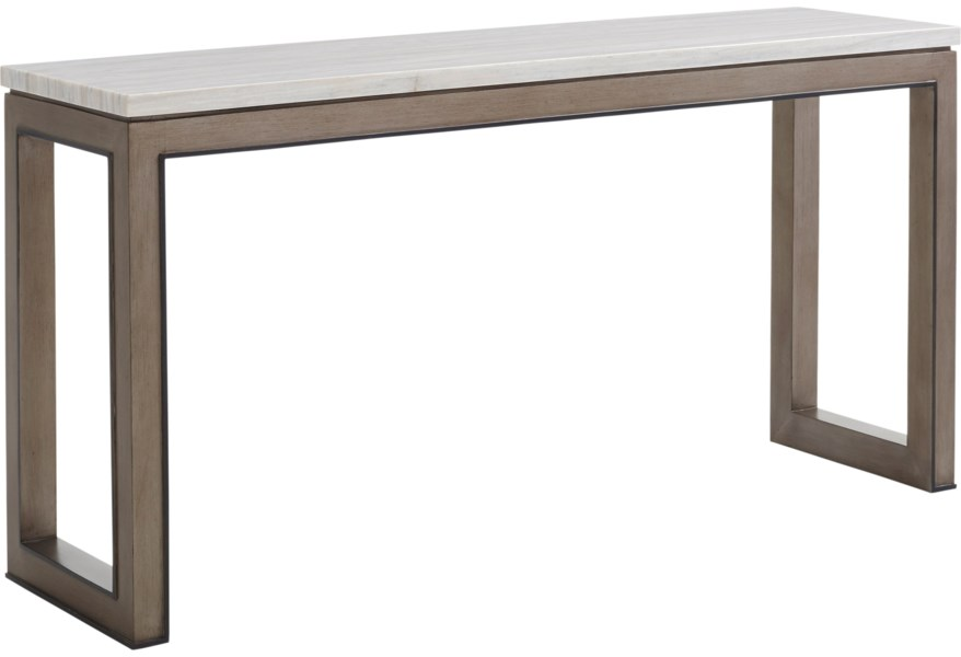 Vernay Console Table With Marble Top
