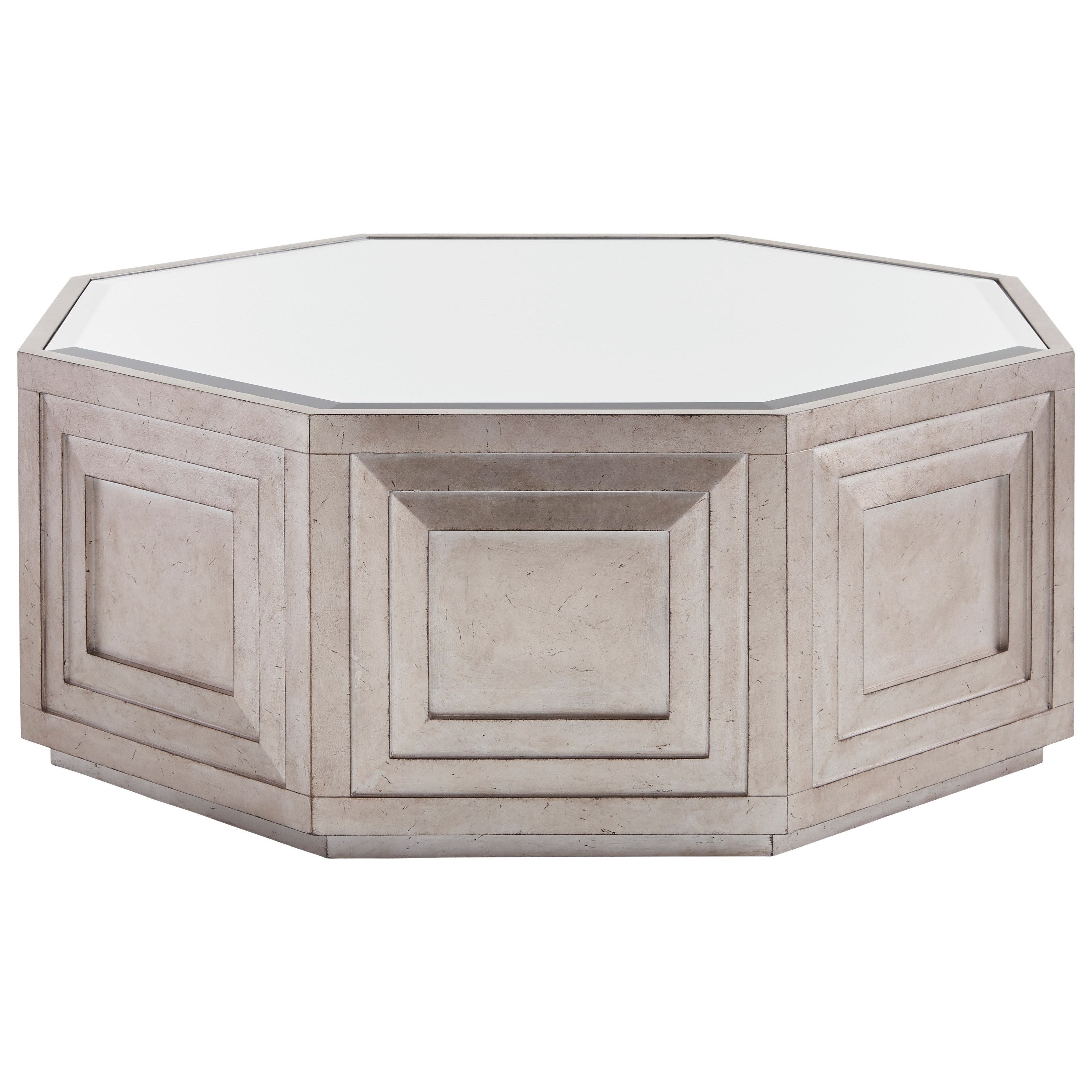 Lexington Ariana Rochelle Octagonal Cocktail Table With Silver Leaf And  Mirrored Top   Hudsonu0027s Furniture   Cocktail/Coffee Tables