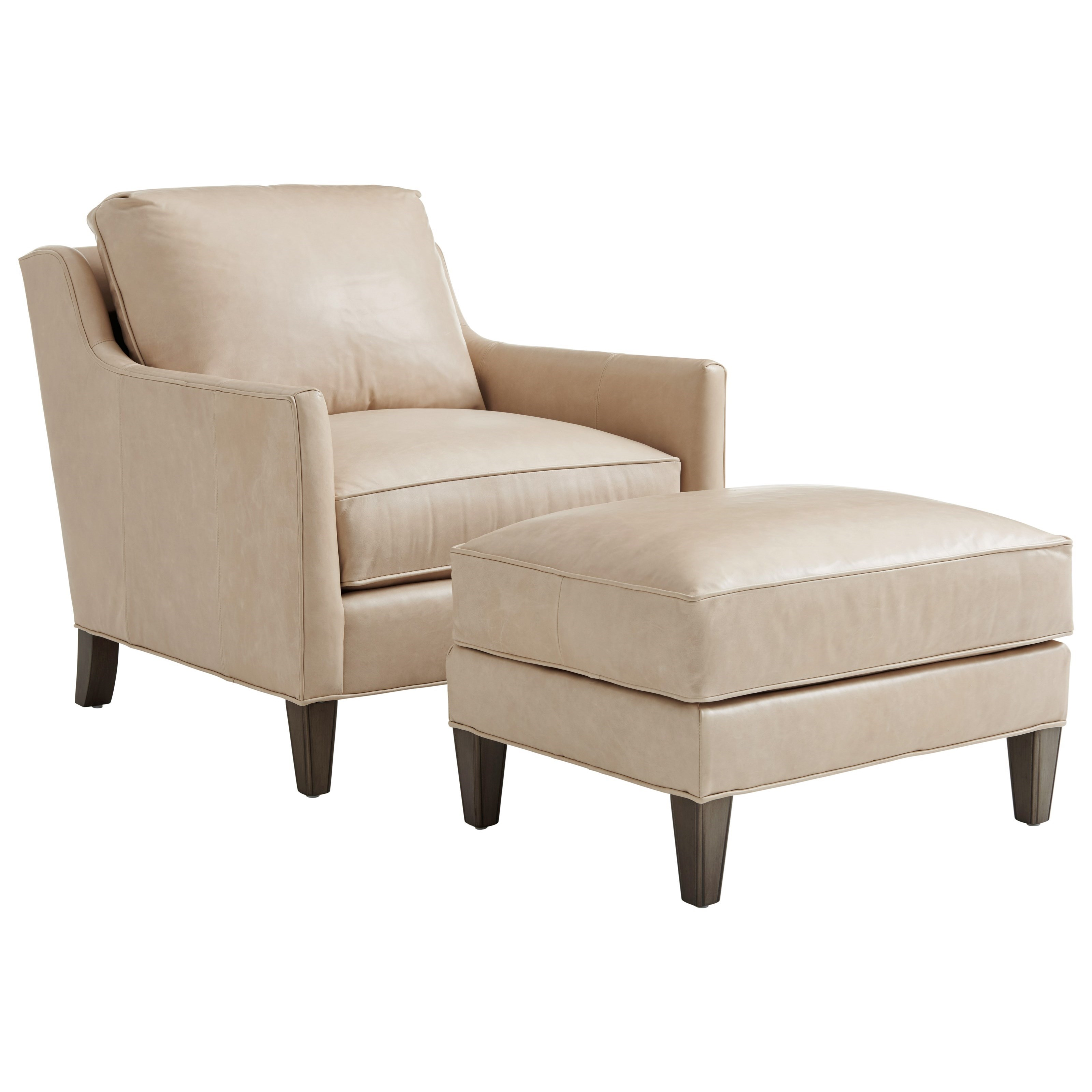 Lexington Ariana Turin Contemporary Chair And Ottoman