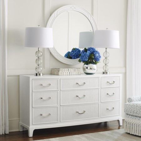 Silver Lake Dresser & Mirror Set