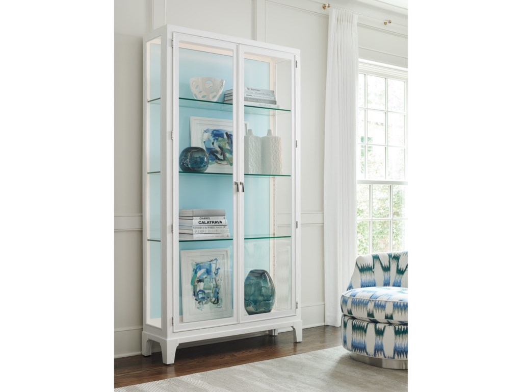 Lexington AvondaleLakeshore Curio Sky Blue Back Panel