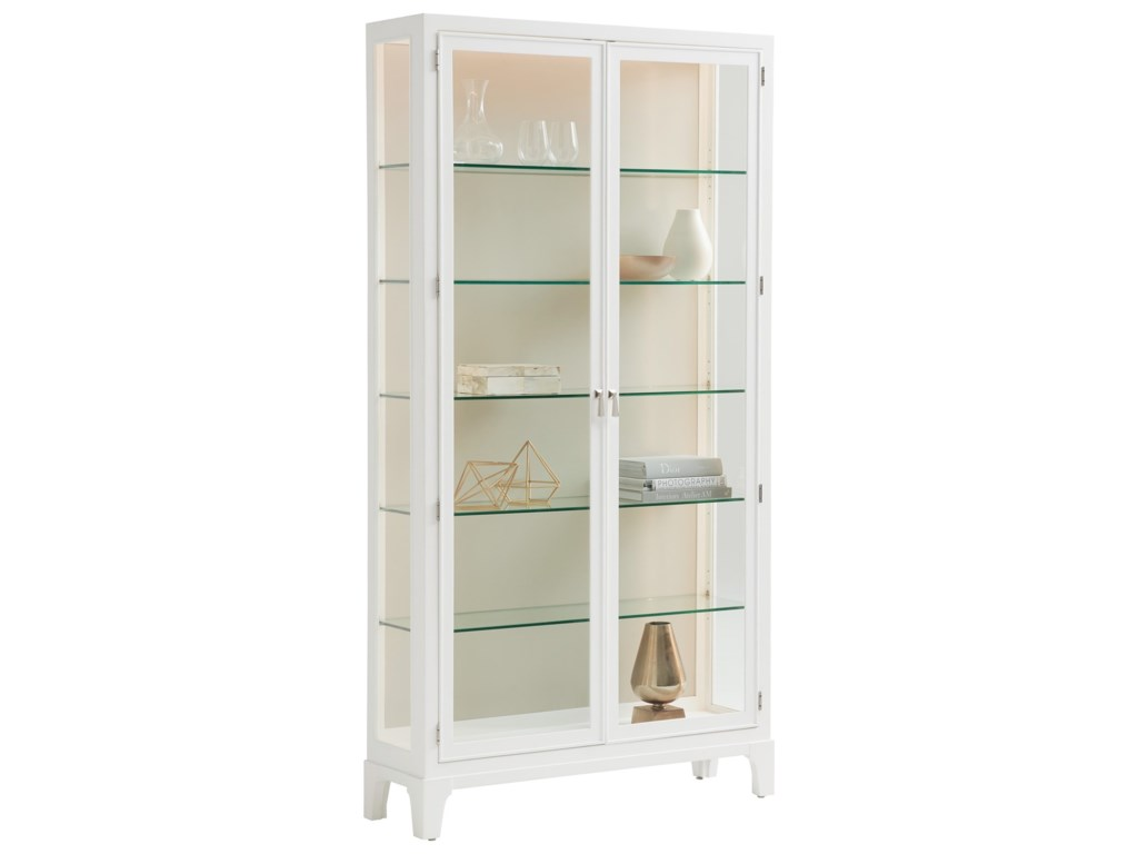 Lexington AvondaleLakeshore Curio Taupe Back Panel