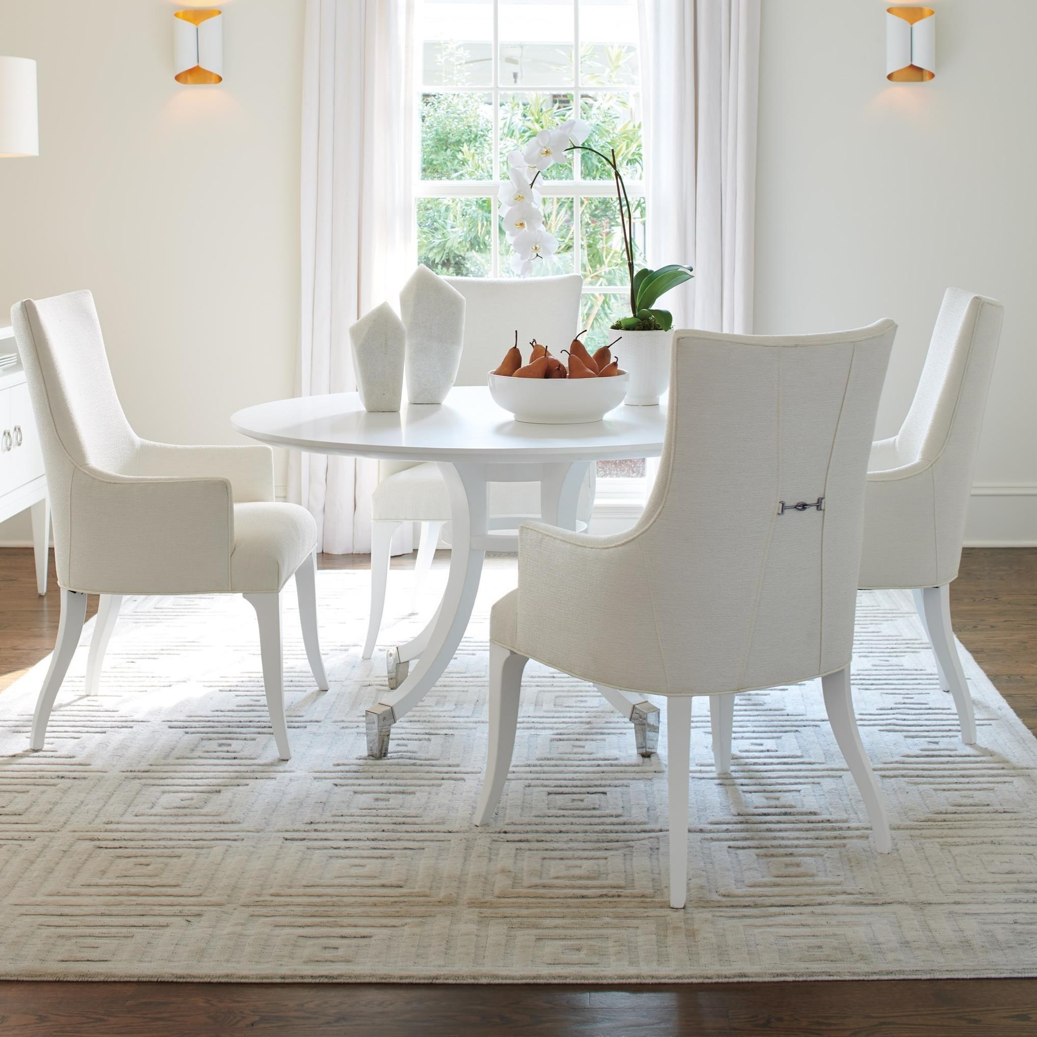 5 Piece Dining Set with Bloomfield 54 Inch Round Table