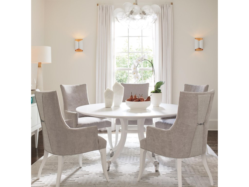Lexington Avondale 6 Piece Dining Set With Lombard 60 Inch Round Table Wayside Furniture Dining 5 Piece Sets