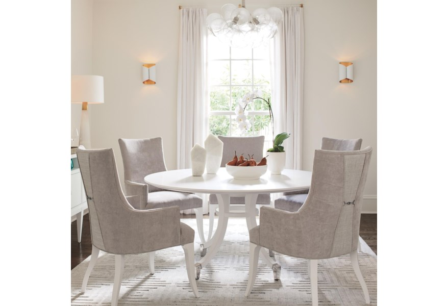 Lexington Avondale 6 Piece Dining Set With Lombard 60 Inch Round Table Belfort Furniture Dining 5 Piece Sets