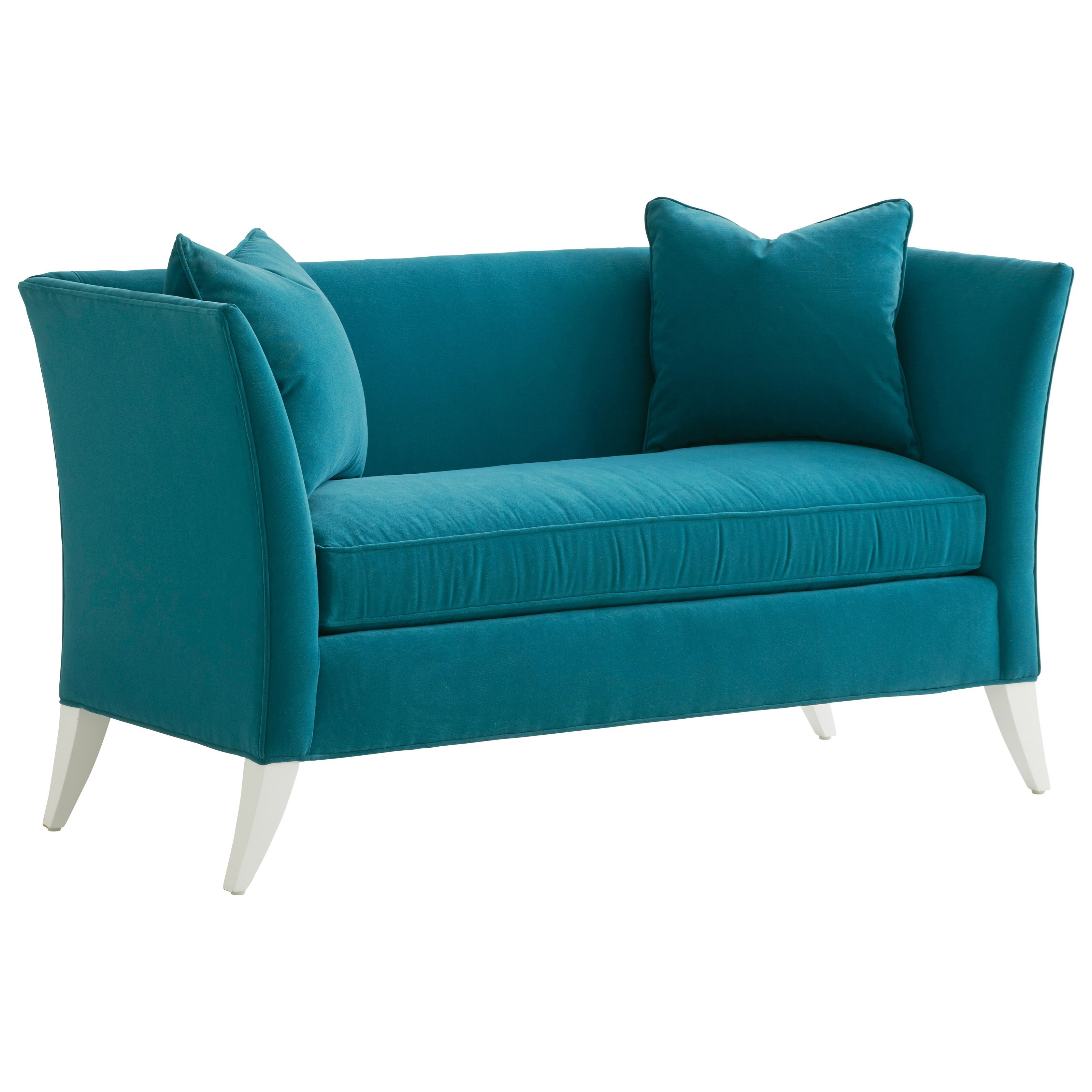 Hampstead Tuxedo Back Settee with 2 Pillows