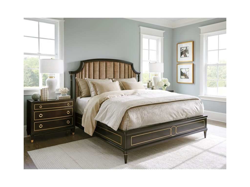 Lexington Carlyle5/0 Regency Upholstered Bed  - Custom Fabric