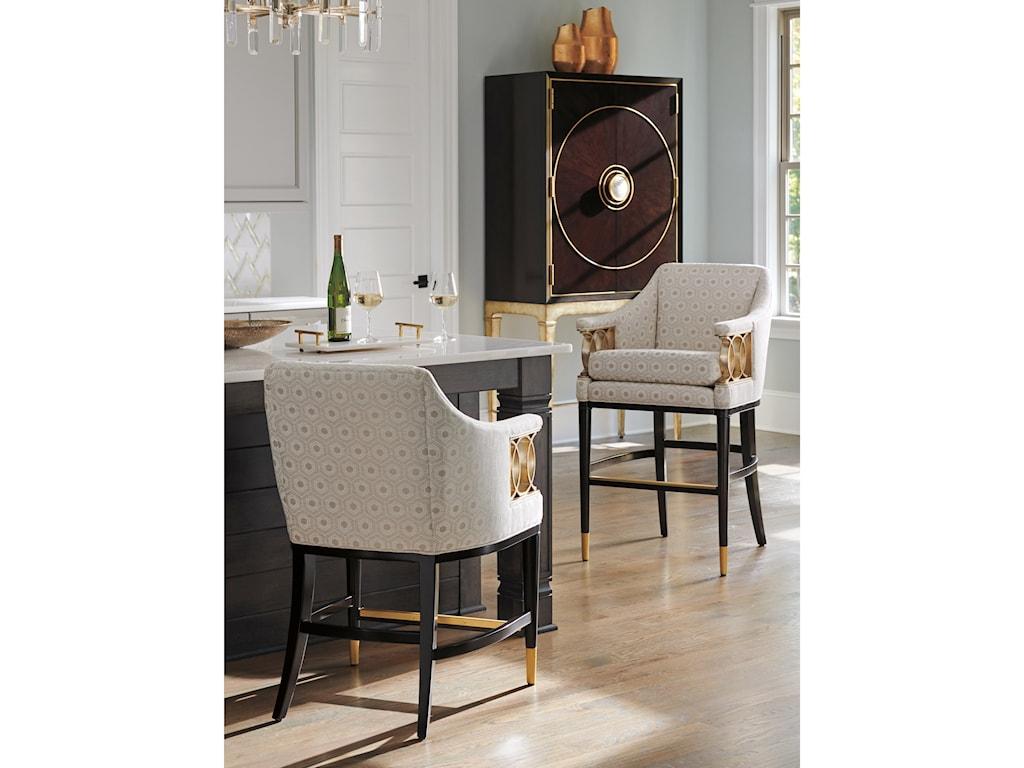 Lexington CarlyleHemsley Upholstered Counter Stool - Custom