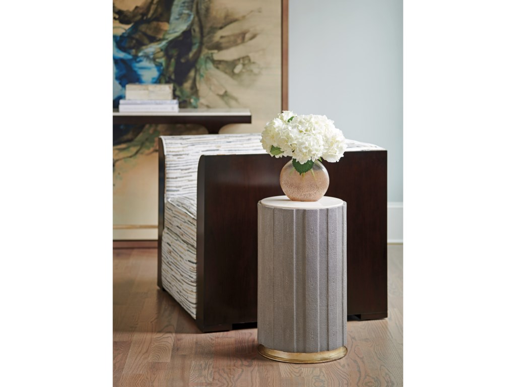 Lexington CarlyleChelsea Taupe Shagreen Accent Table