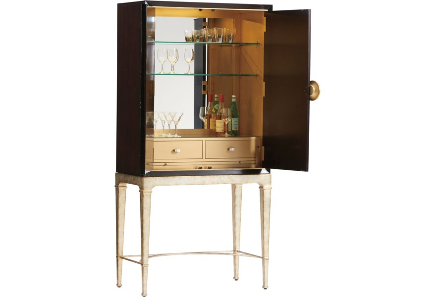 Lexington Carlyle Meridian Bar Cabinet With Touch Display