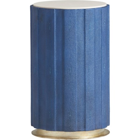 Chelsea Cobalt Shagreen Accent Table