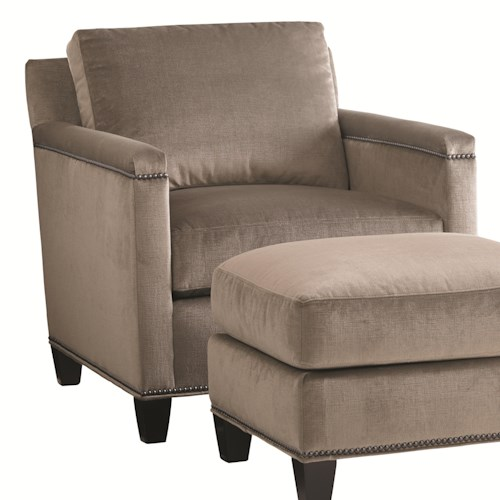 Lexington Carrera Strada Contemporary Chair with Nailhead Trim