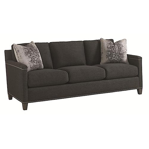 Lexington Carrera Strada Contemporary Sofa with Nailhead Trim