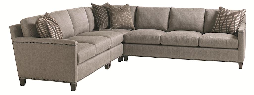 Lexington Carrera Strada Four Piece Sectional Sofa With Nailhead Trim -  Baer's Furniture - Sectional Sofas