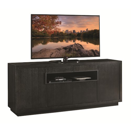 Lexington Carrera Berlinetta Media Console with Wire Management Grommets and Adjustable Shelves