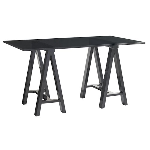 Lexington Carrera Europa Architects Desk with 3/4 Inch Tempered Glass Top