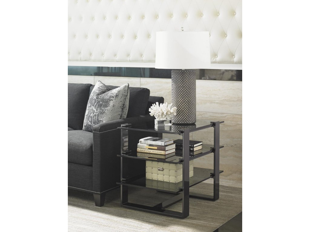 Lexington CarreraRhodium End Table