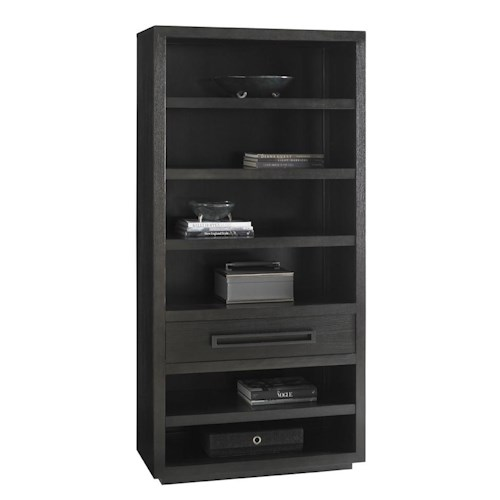 Lexington Carrera Rossa Bookcase with Adjustable Shelves and Closed Storage Drawer