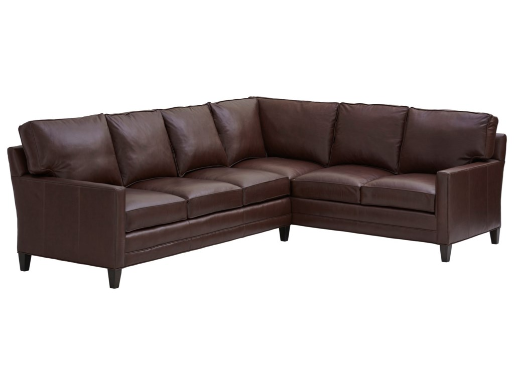 Lexington Couture LeatherBrayden Customizable 5-Seat Sectional Sofa