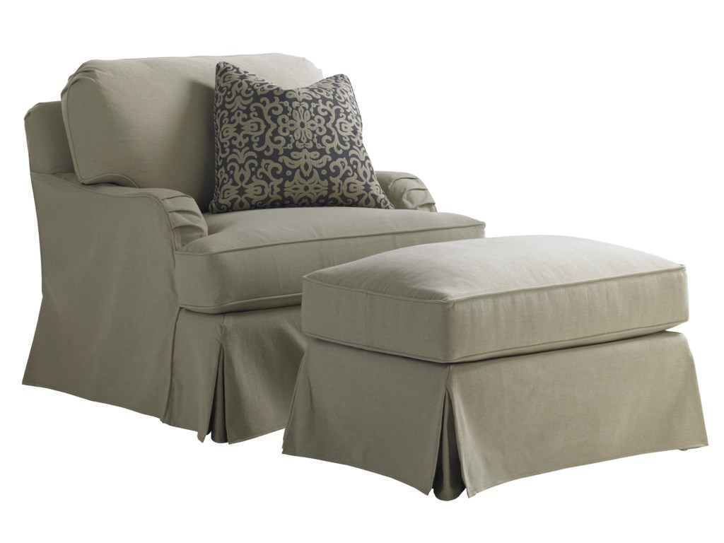 Lexington Coventry HillsStowe Slipcover Chair and Ottoman