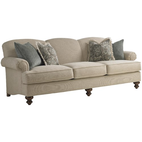 Leather Sofa Repairs In Coventry: Lexington Coventry Hills Asbury Sofa With Rolled Arms And