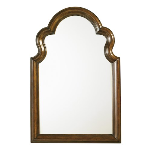 Lexington Coventry Hills Saybrook Vertical Mirror with Serpentine Carvings