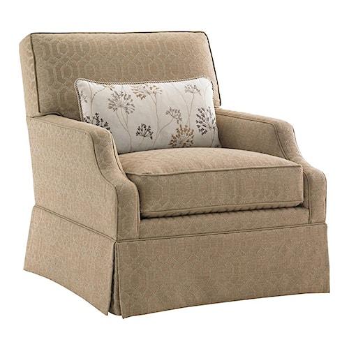 Lexington Kensington Place Transitional Courtney Skirted Swivel Chair