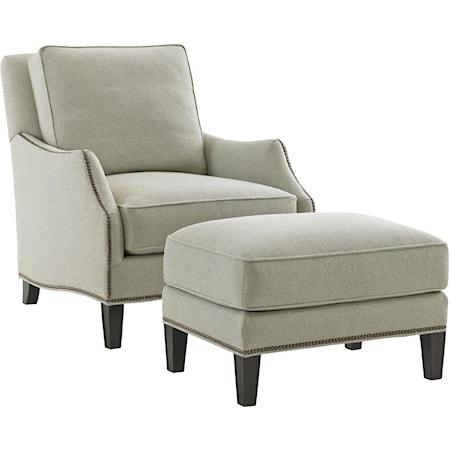 Ashton Chair and Ottoman