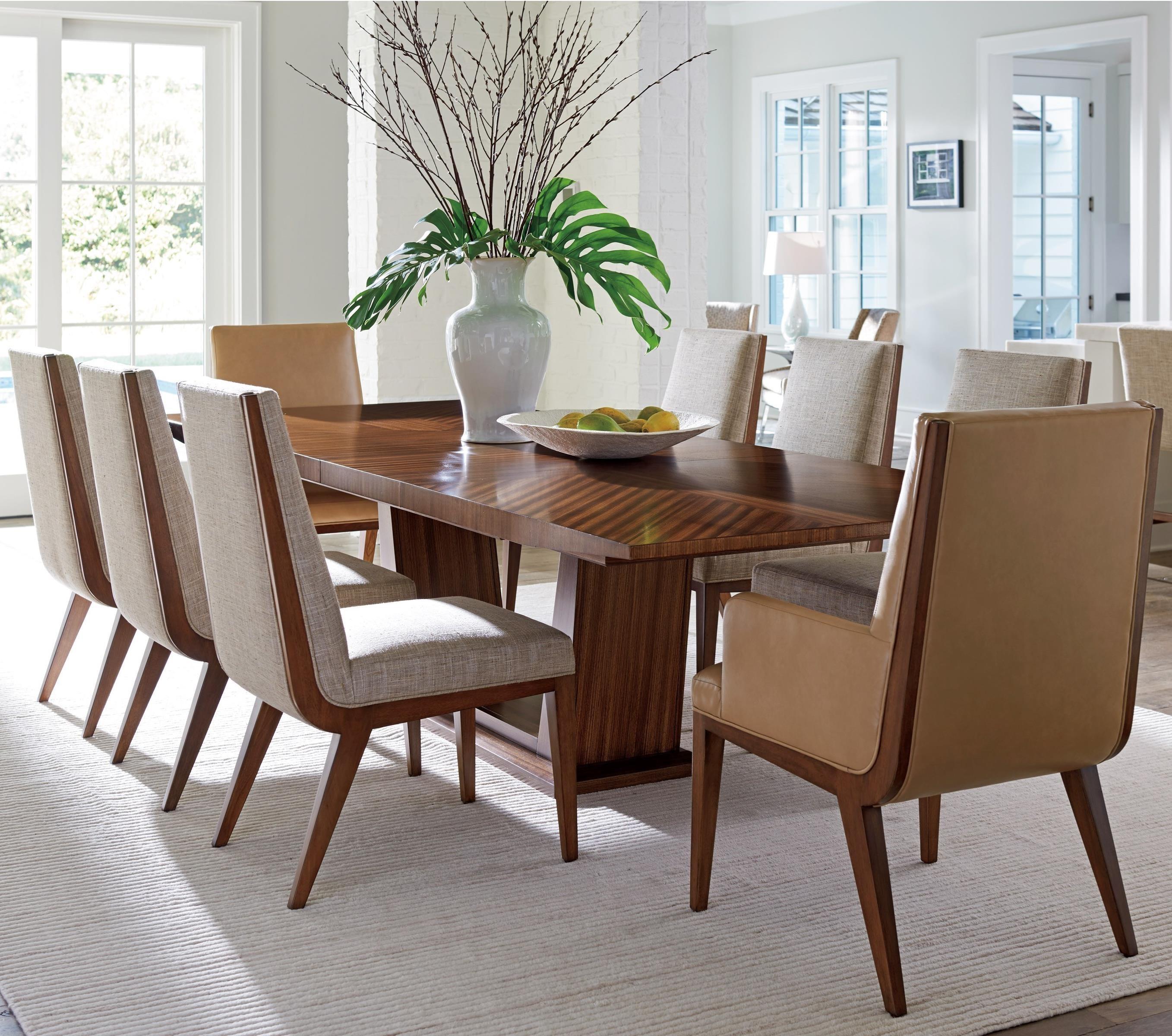 Lexington Kitano Nine Piece Dining Set With Caldera Table