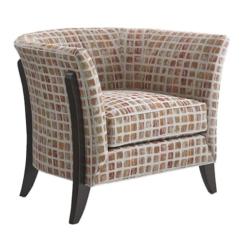 Lexington LAUREL CANYON Westgate Chair with Modern Flared Wood Legs