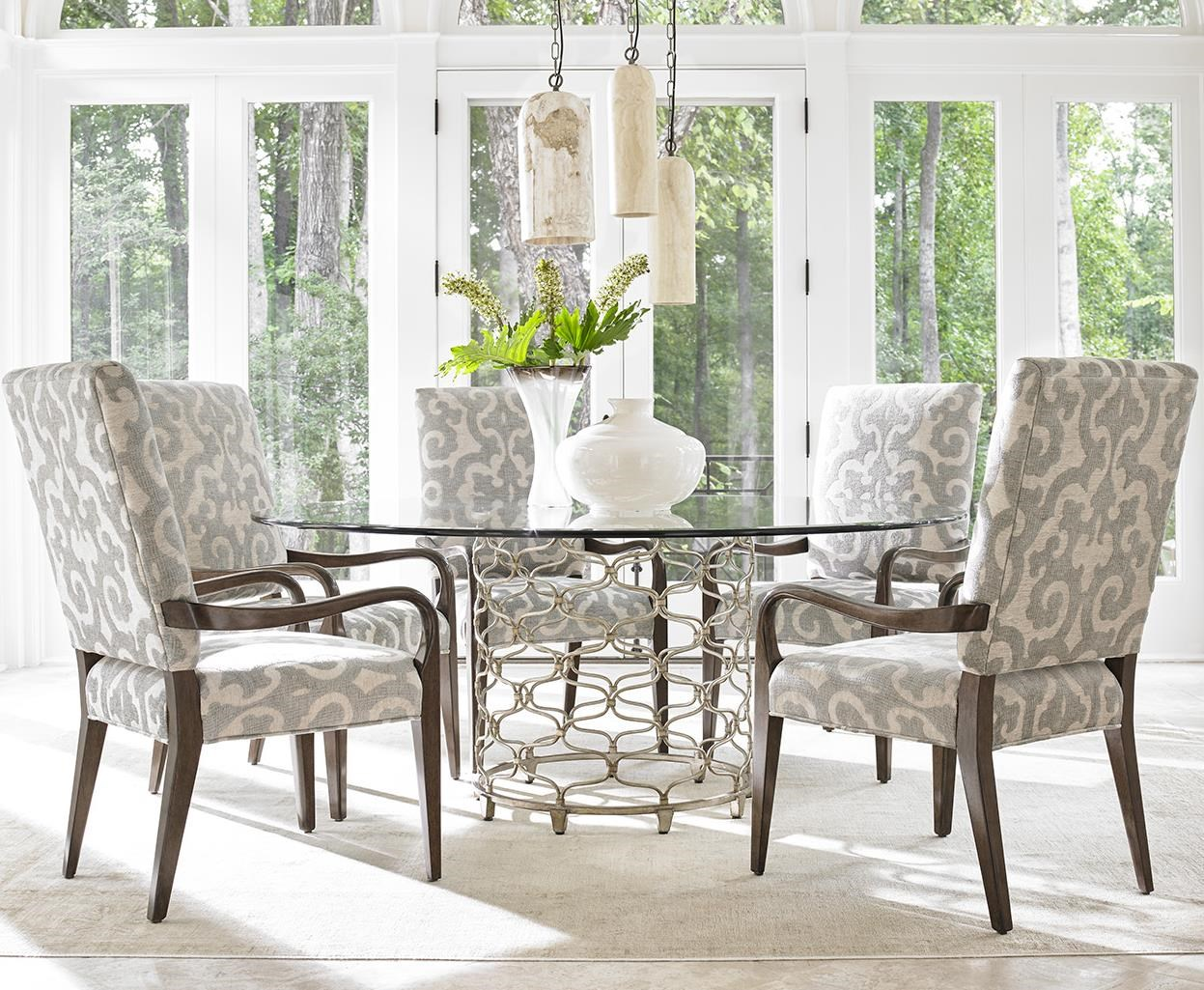 Merveilleux Lexington LAUREL CANYON Six Piece Dining Set With Bollinger Table And  Sierra Customizable Chairs