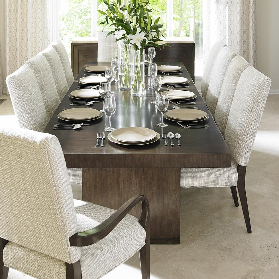 Lexington LAUREL CANYON Eleven Piece Dining Set With San Lorenzo Table And  Married Fabric Sierra Chairs   Baeru0027s Furniture   Dining 7 (or More) Piece  Sets