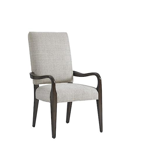Lexington LAUREL CANYON Sierra Dining Arm Chair in Medino Ivory Fabric