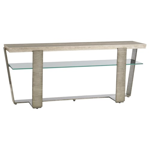 Lexington LAUREL CANYON Griffith Park Console Table with Glass Display Shelf