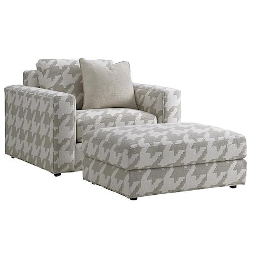 Lexington LAUREL CANYON Bellevue Oversized Chair and Ottoman Set