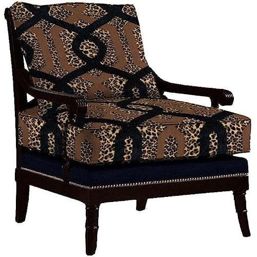 Lexington Lexington Upholstery Customizable Branson Loose Back Fabric-Upholstered Chair with Decorative Nailhead Trim