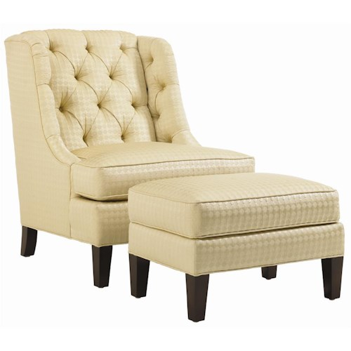 Lexington Lexington Upholstery Belrose Tufted Back Chair and Ottoman