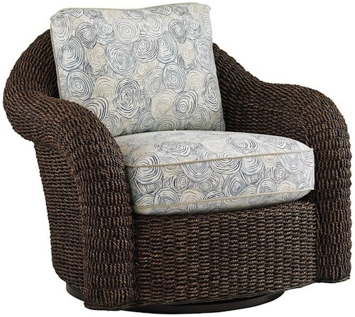 Lexington Lexington Upholstery Cody Swivel Chair - Loose Back Water Hyacinth Swivel Chair