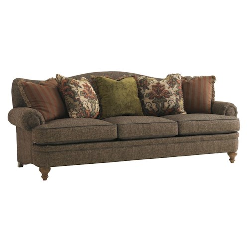 Lexington Lexington Upholstery Ashford Camel Back Sofa with Rolled Arms & Bun Feet