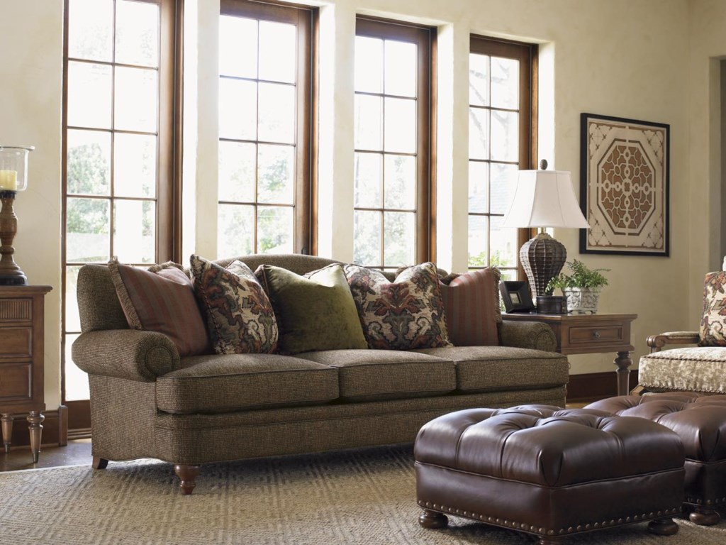 Lexington Lexington Upholstery Ashford Camel Back Sofa With Rolled - Ashford sofa