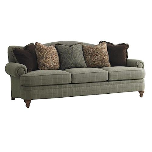 Lexington Lexington Upholstery Ashford Camel Back Sofa with Rolled Arms & Bun Feet