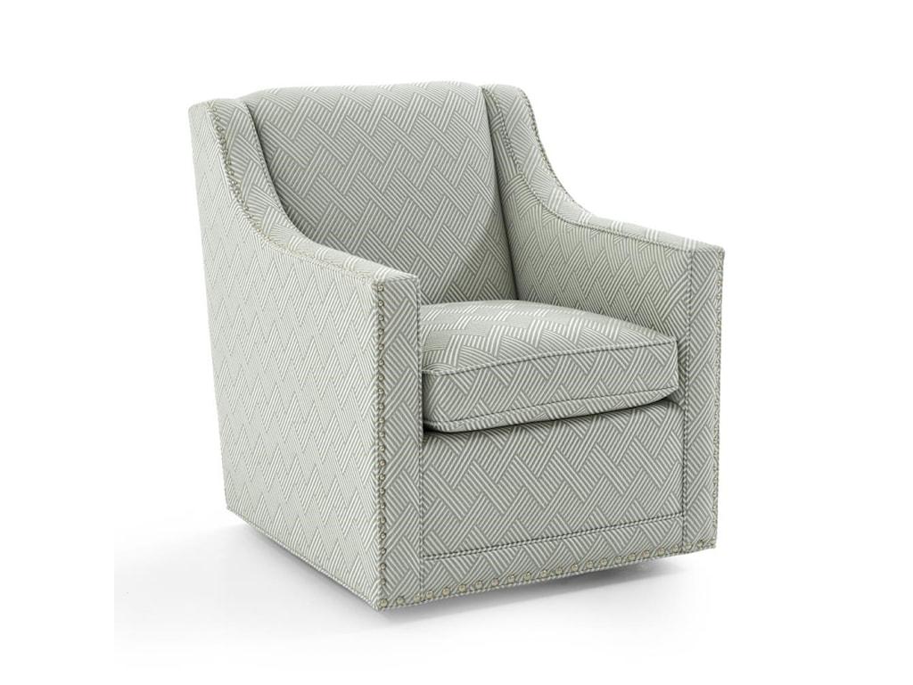 Lexington Upholstery 7620 11SW 5021 21 Barrier Swivel Chair With Nailhead Trim