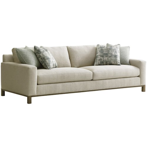 Lexington Upholstery Chronicle Stationary Sofa With Loose Back