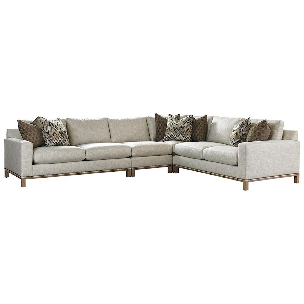 Lexington lexington upholsterychronicle 4 pc sectional sofa