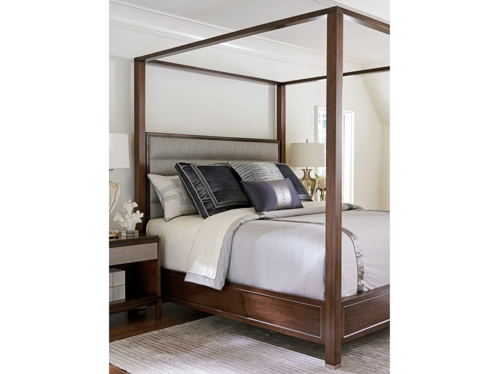 Lexington MacArthur ParkTerranea Queen Poster Bed Custom Fabric